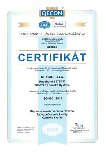 ISO 9001 2015 SK